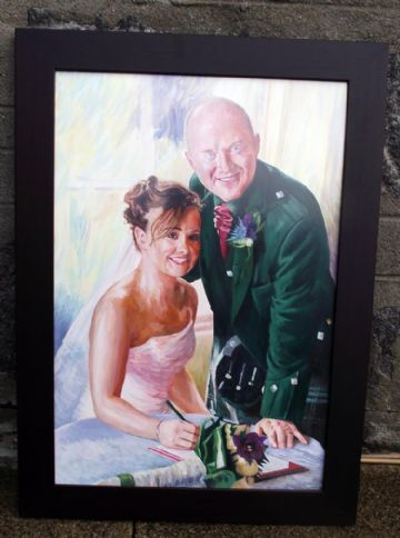 Bride and Groom Oil Painting